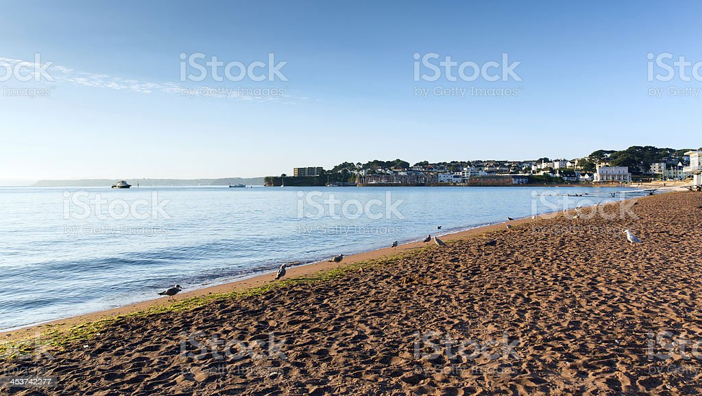 Paignton beach Devon England near Torquay and Brixham stock photo