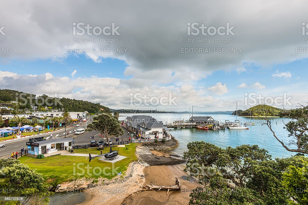 Paihia, Bay of Islands, Northland, New Zealand stock photo