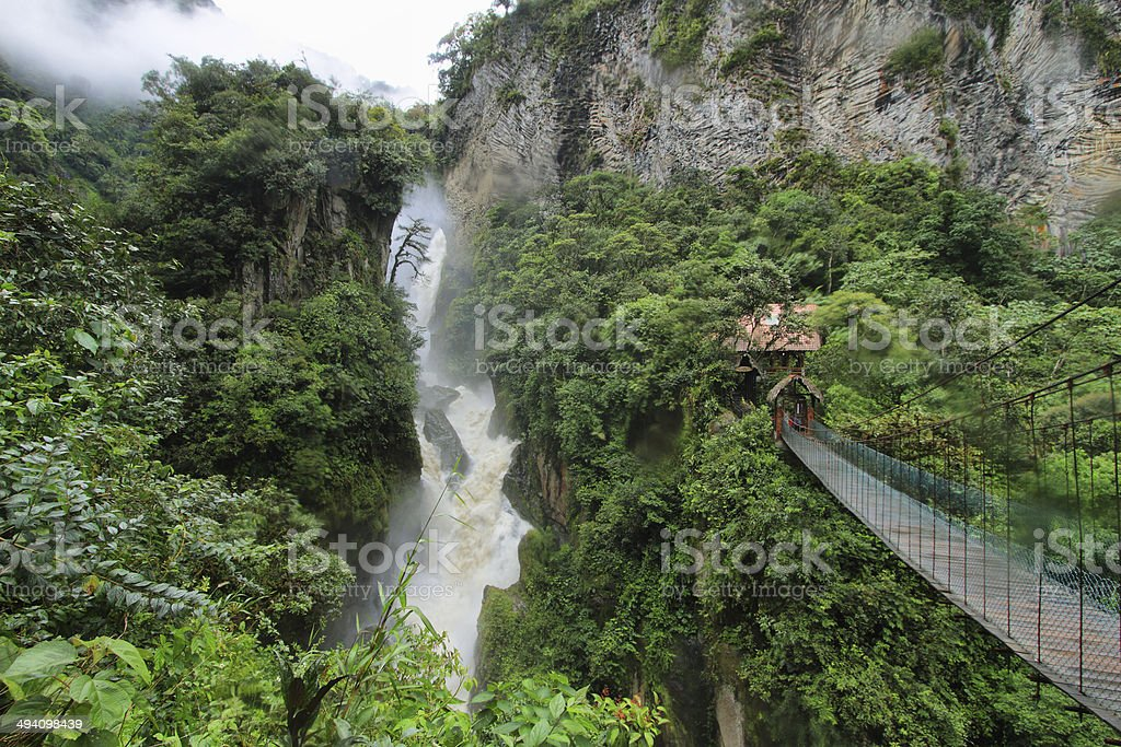 Pailon Del Diablo waterfall, Ecuador stock photo