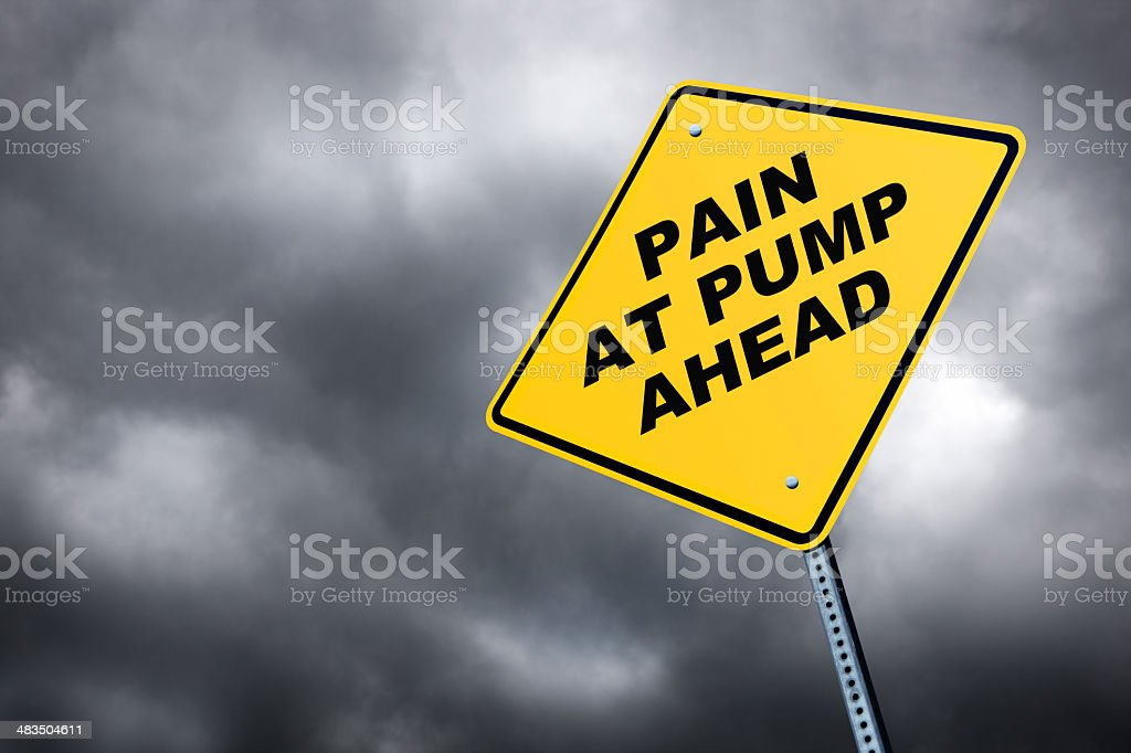 Pain At Pump stock photo