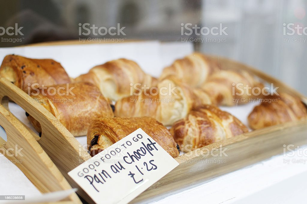 Pain au chocolat and croissants royalty-free stock photo