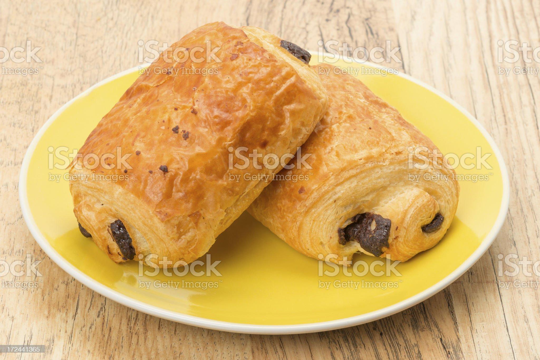 Pain au chocolat pastries royalty-free stock photo