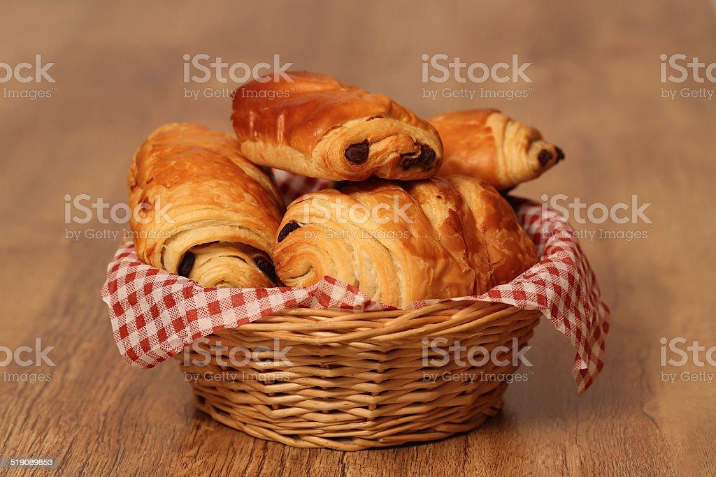 pain au chocolat stock photo