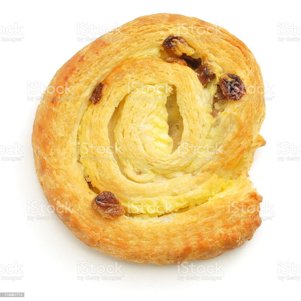 Pain aux raisins from above stock photo