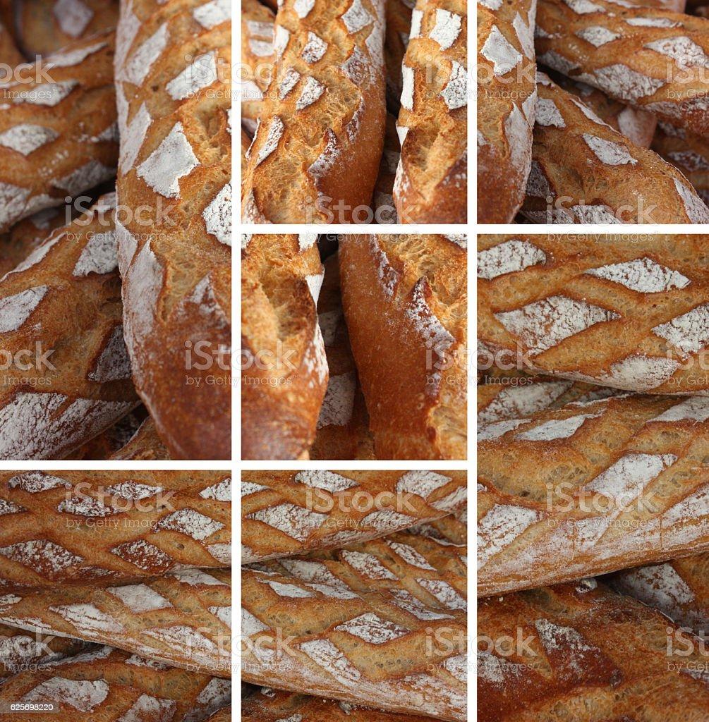 Pain - Baguette artisanale - Boulangerie stock photo