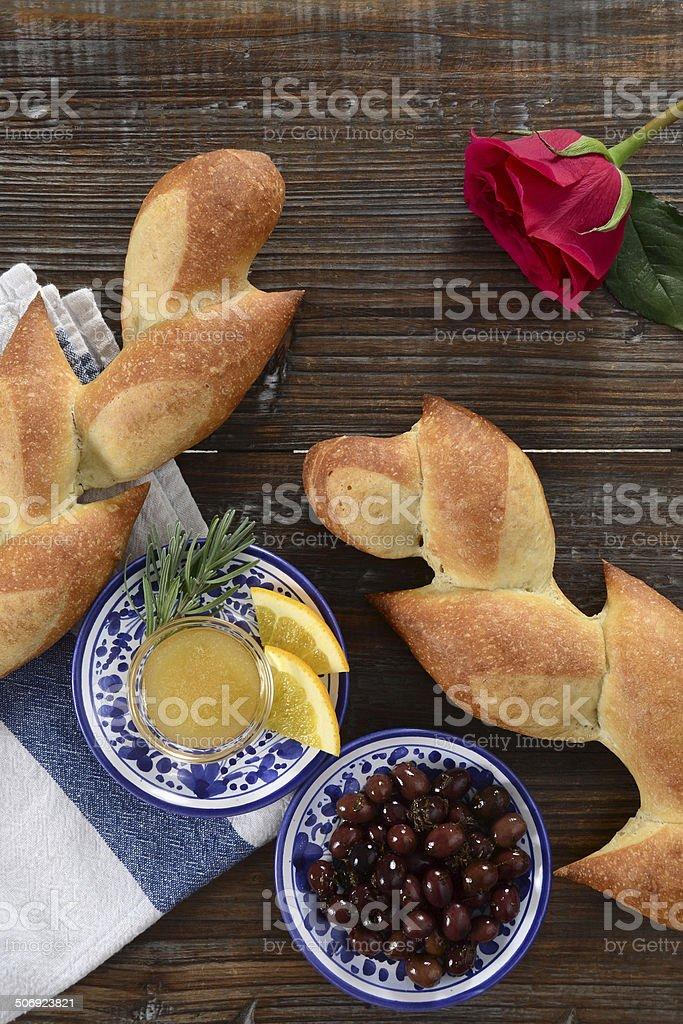 Pain D'Epi or Wheat Stalk Bread royalty-free stock photo