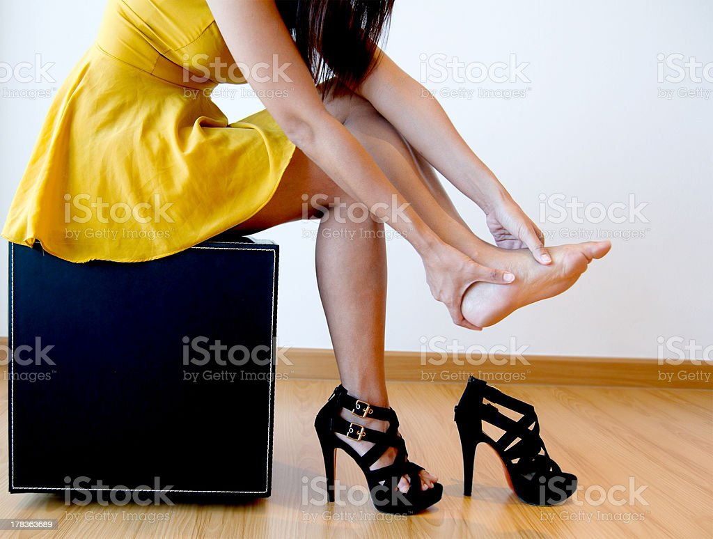 Pain From High Heels stock photo