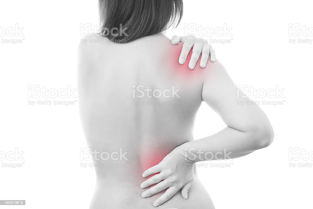 Pain in a body of the woman royalty-free stock photo