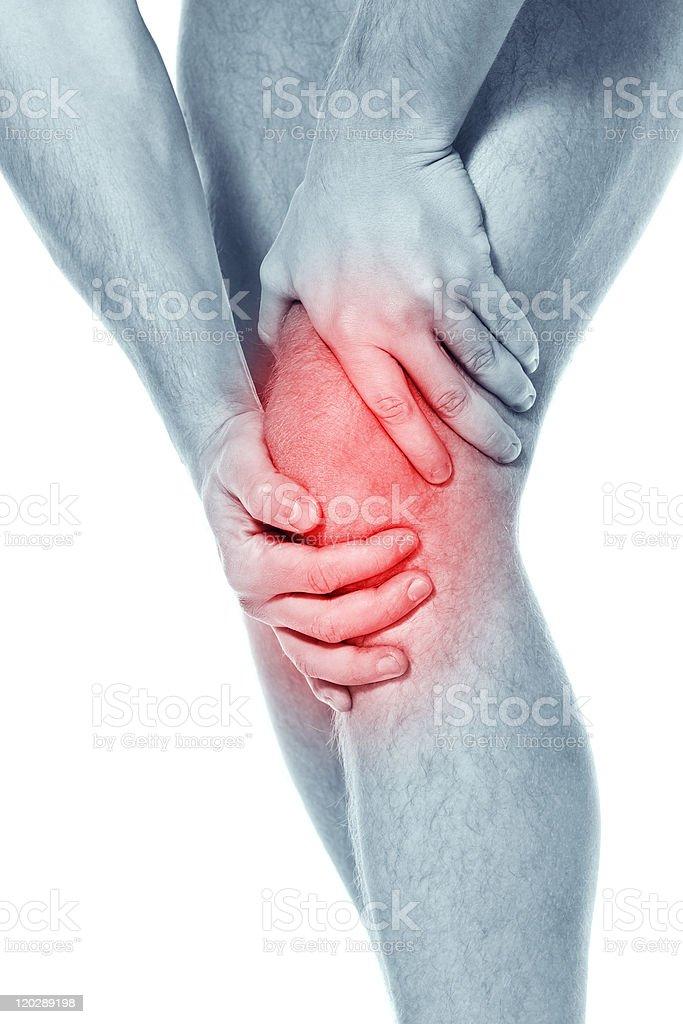 Pain in a knee. sports trauma royalty-free stock photo