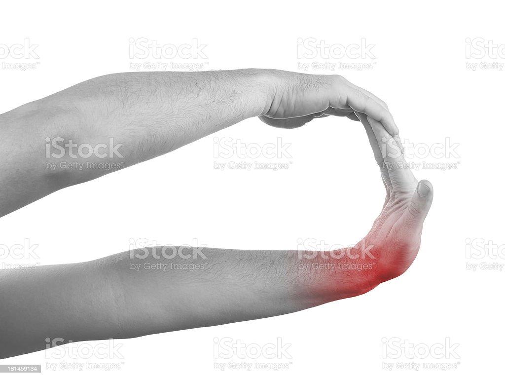 Schmerzen In Einen Mann Am Handgelenk Stockfoto 181459134 | iStock