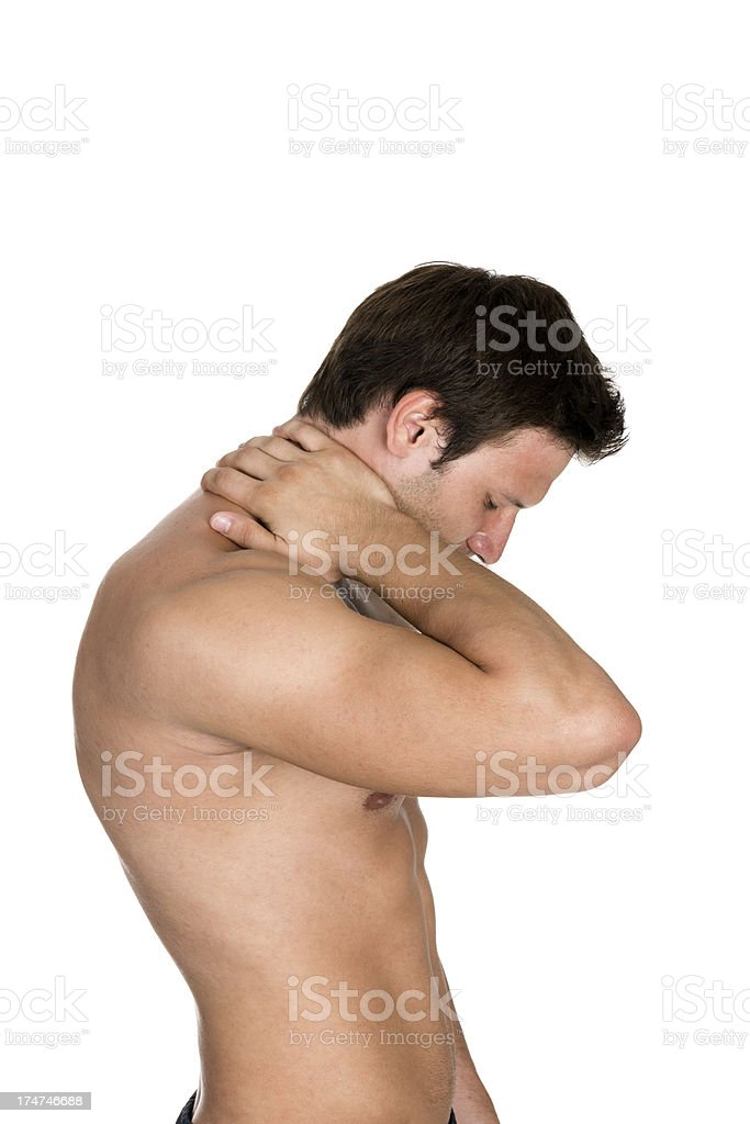 pain in a neck royalty-free stock photo