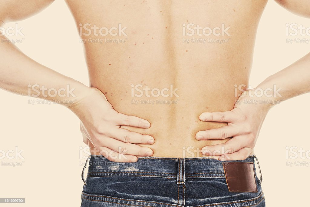 Pain in a waist royalty-free stock photo
