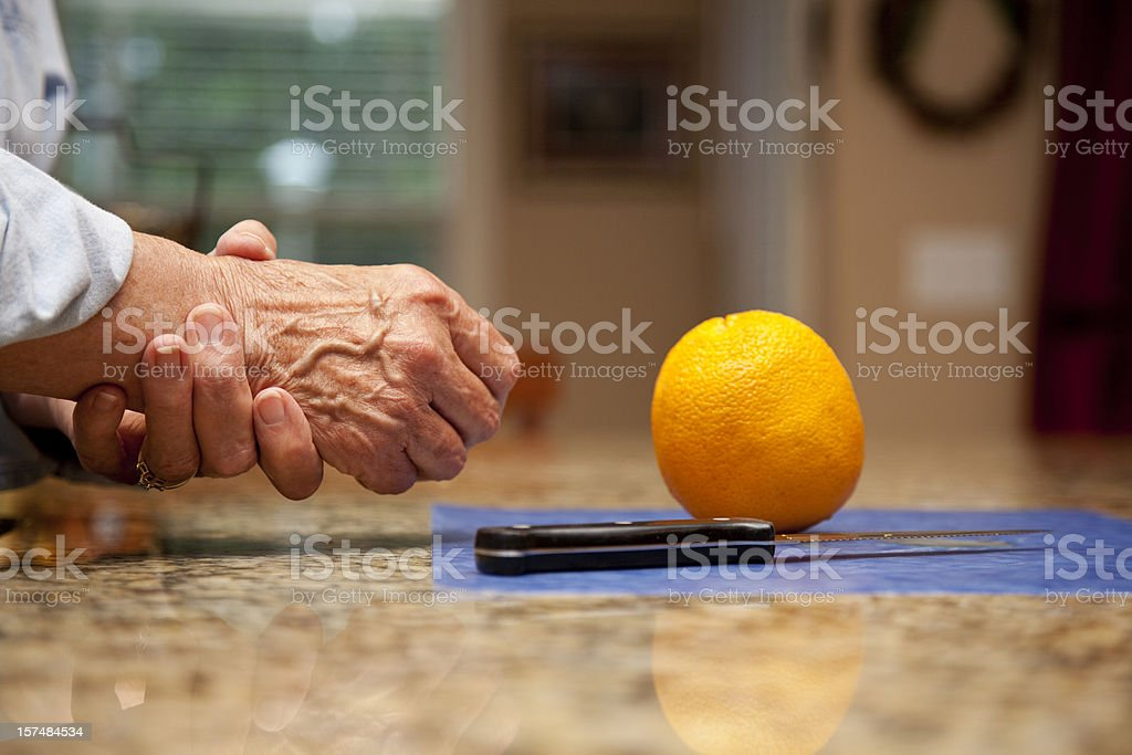 pain in hands royalty-free stock photo