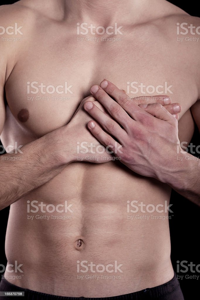 pain in heart royalty-free stock photo