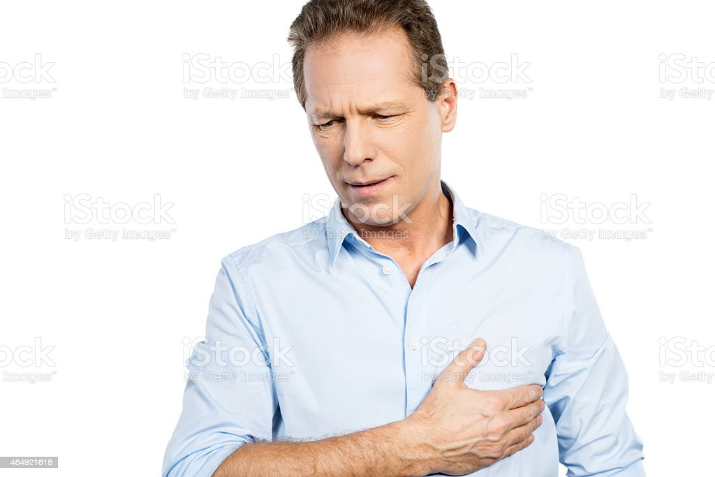 Pain in heart. stock photo