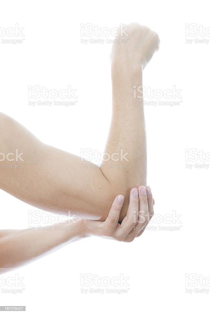 Pain in joints of hands royalty-free stock photo