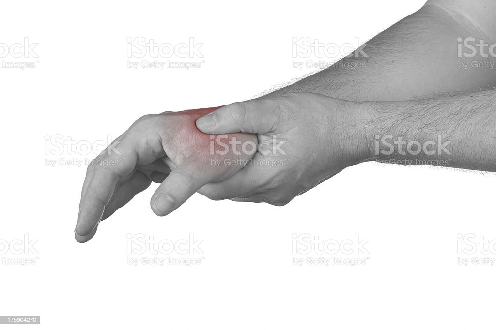 Pain in the wrist stock photo