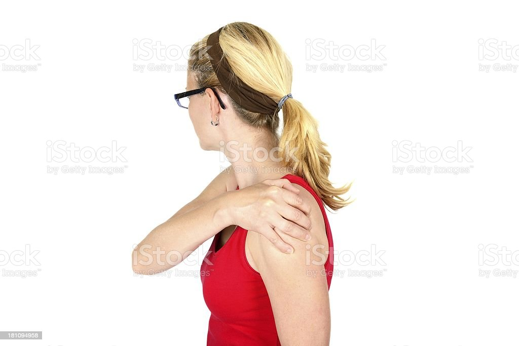 pain on shoulder royalty-free stock photo