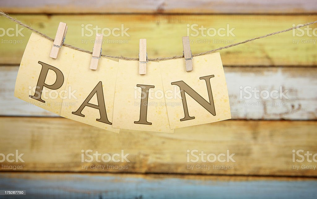 Pain royalty-free stock photo