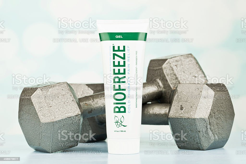 Pain Relief for Sore Muscles royalty-free stock photo