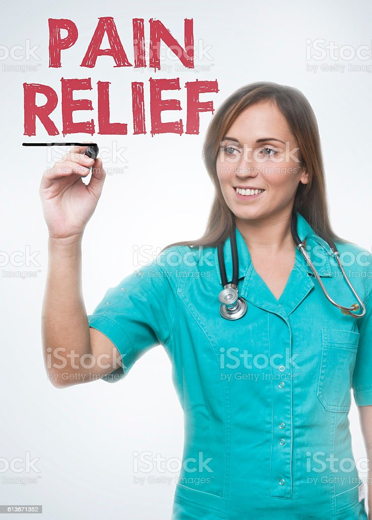Pain relief / Medicine concept (Click for more) stock photo