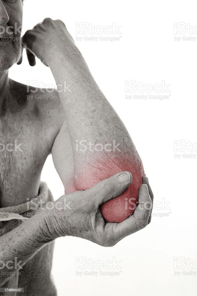 Painful Elbow Injury stock photo