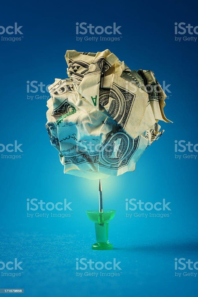 Painful finance stock photo