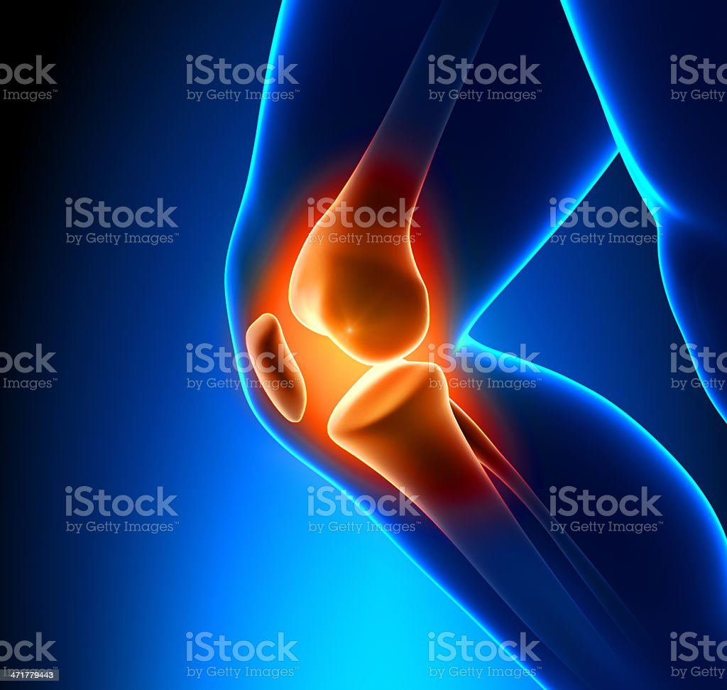 Painful Knee Close-up stock photo