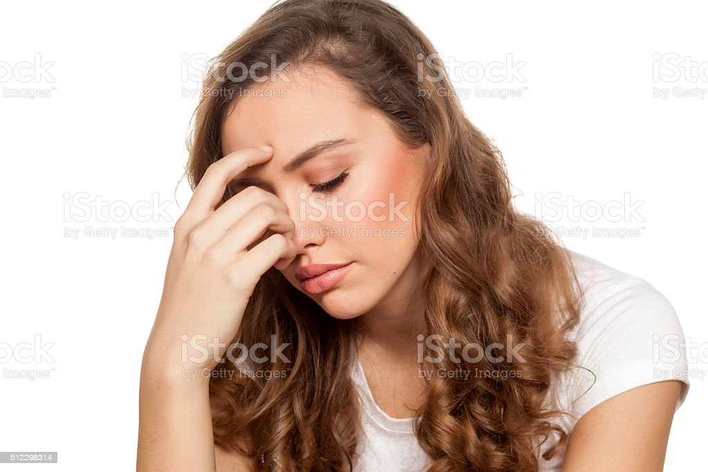 painful sinuses stock photo