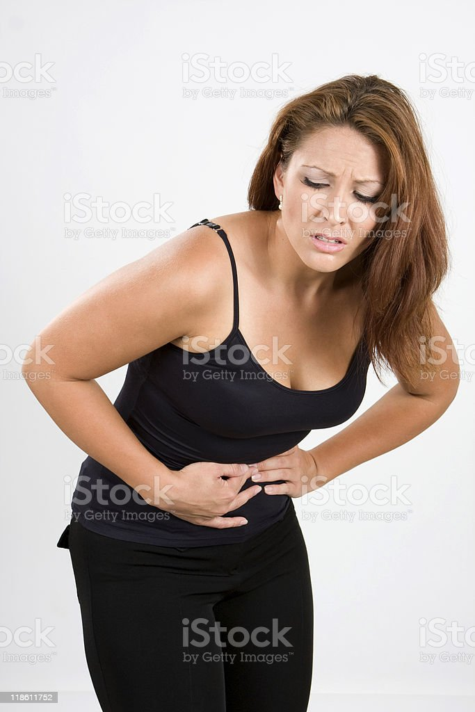 Painful Stomach Cramps royalty-free stock photo