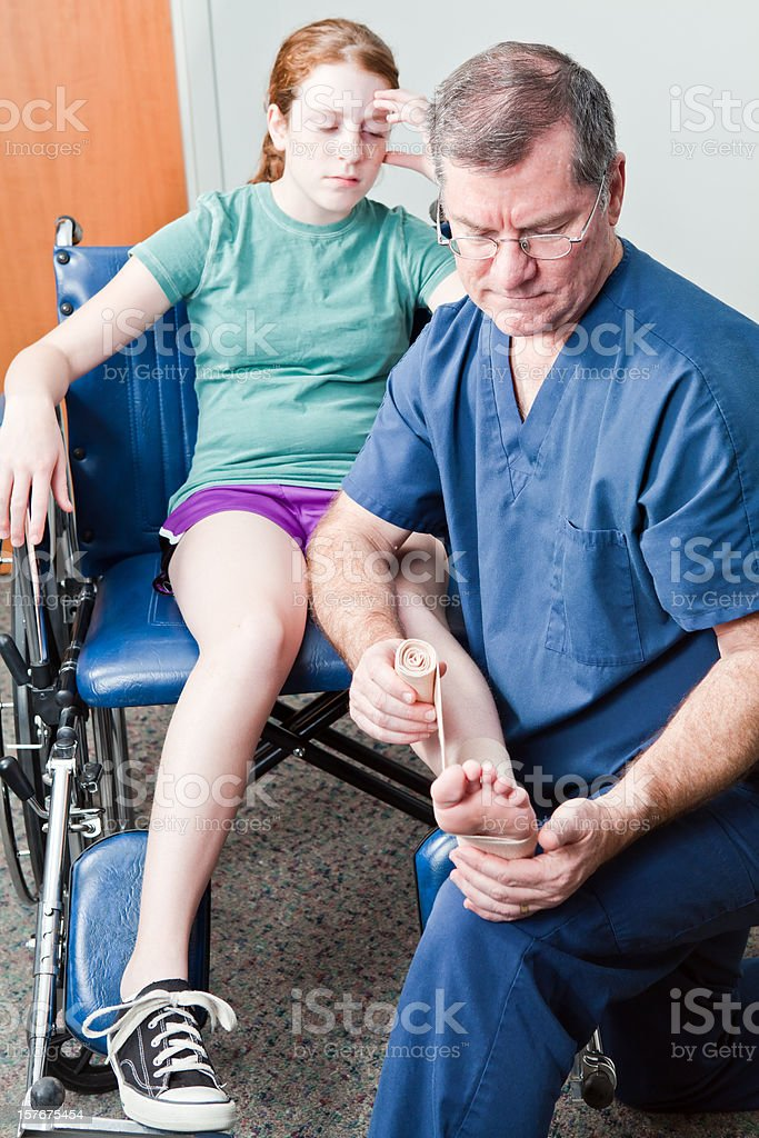Pains and Sprains royalty-free stock photo