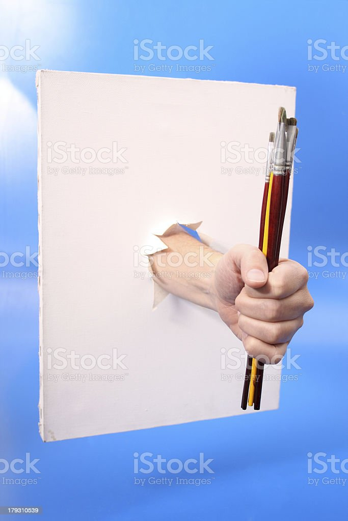 Paint a canvas royalty-free stock photo