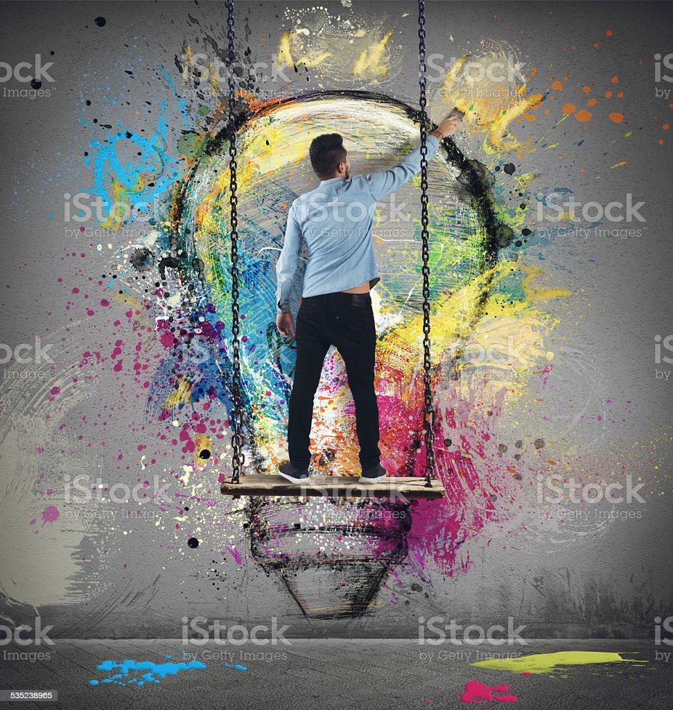 Paint an idea stock photo