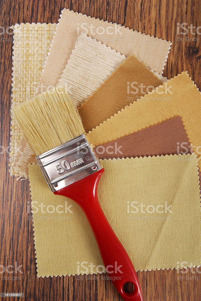 paint and material color choosing for interior royalty-free stock photo