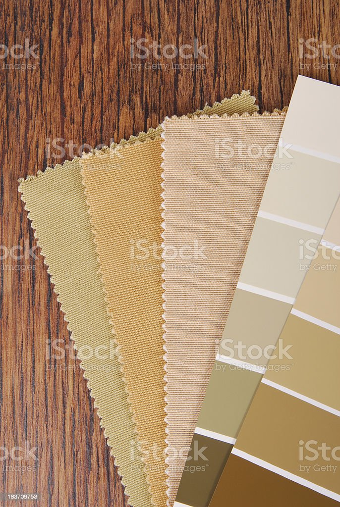 paint and material color choosing for interior stock photo