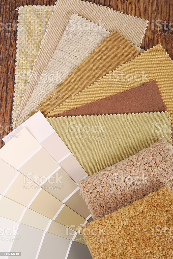 paint and material color choosing stock photo