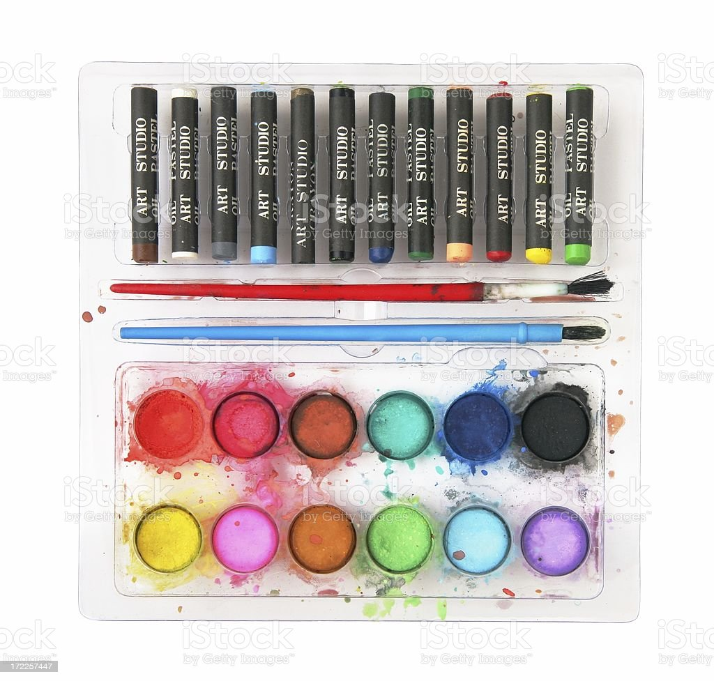 Paint and Pastels stock photo
