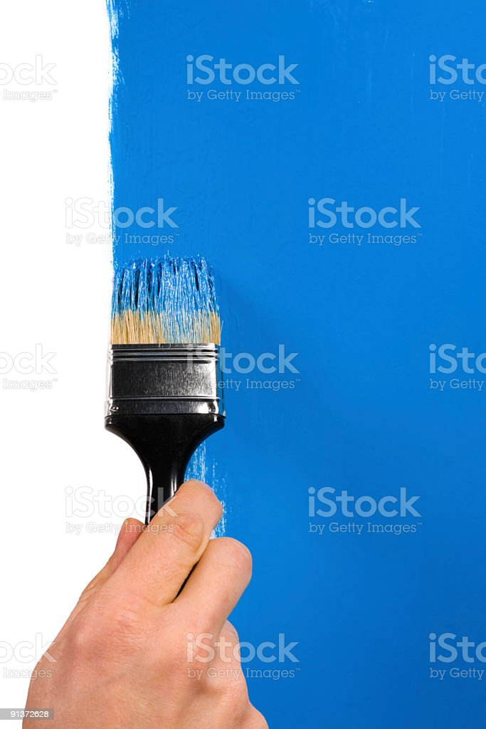 paint blue royalty-free stock photo