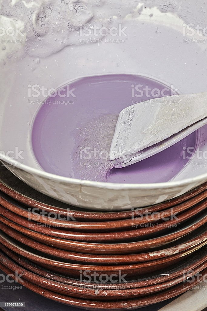 paint bowl royalty-free stock photo