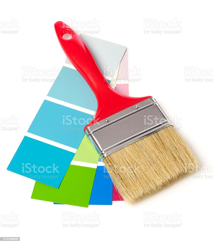 Paint brush and color chart stock photo 615499838 istock paint brush and color chart royalty free stock photo nvjuhfo Choice Image