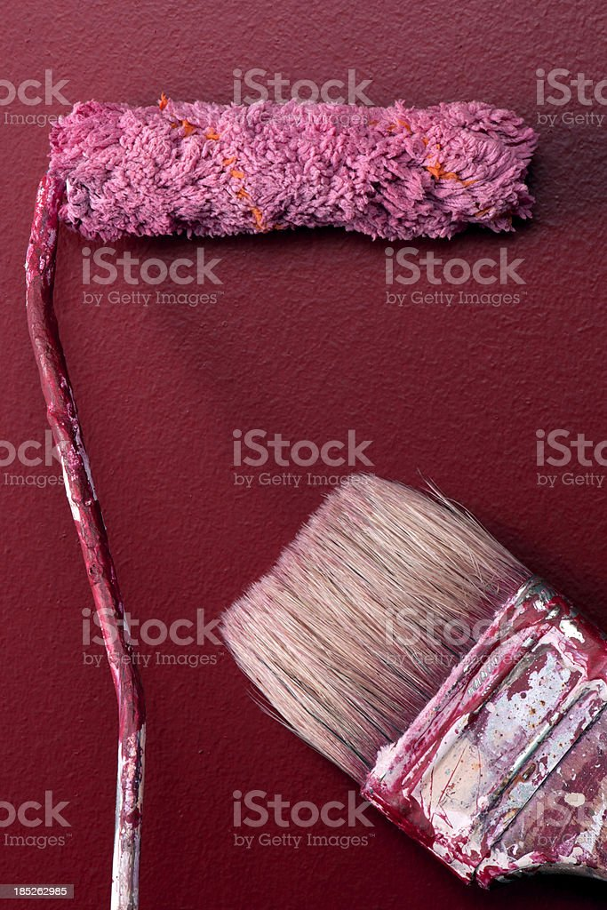 Paint Brush and Roller royalty-free stock photo