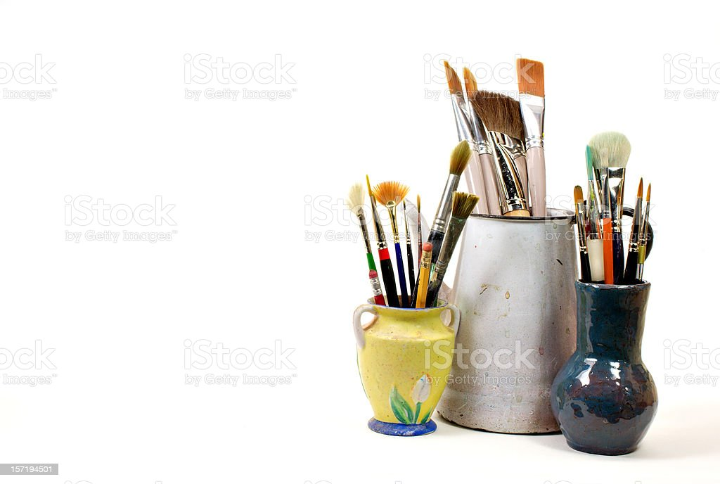 paint brush assortment royalty-free stock photo