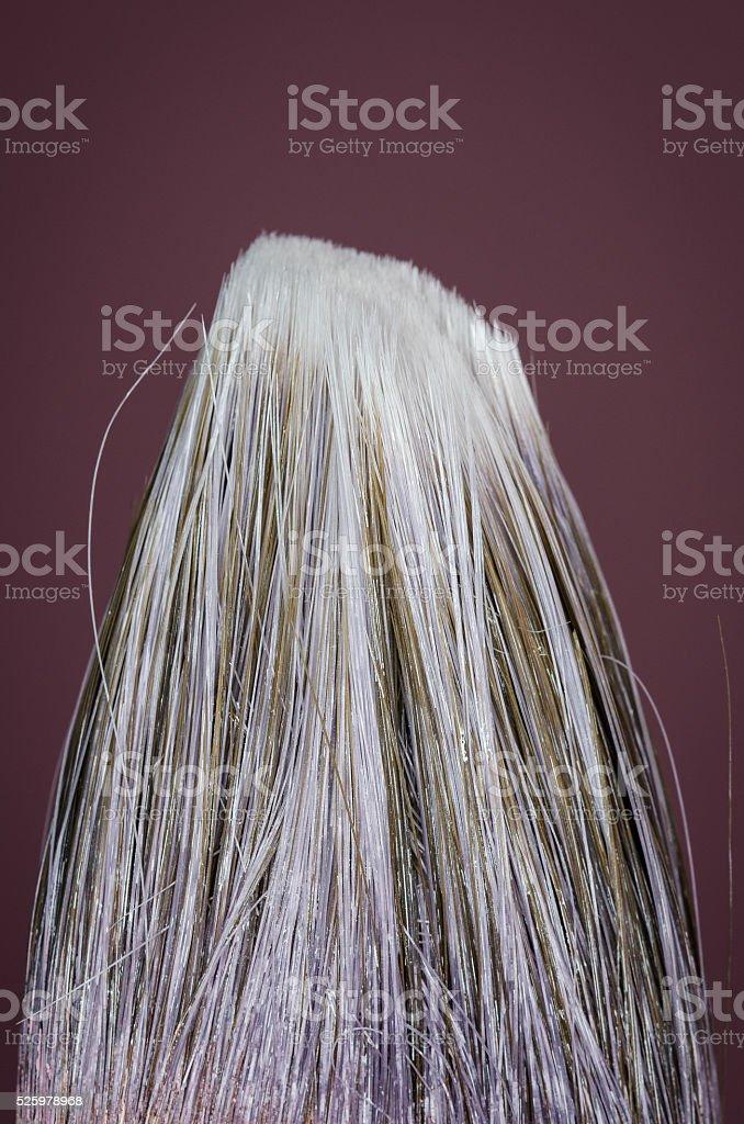 Paint brush bristles stock photo