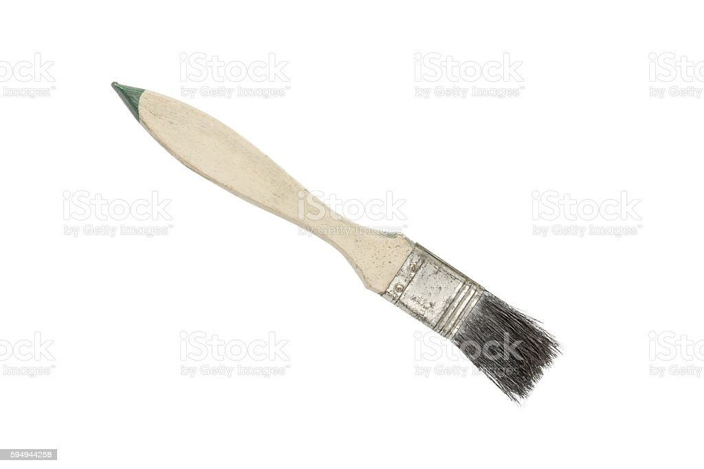 Paint brush on a white background. Clipping path stock photo