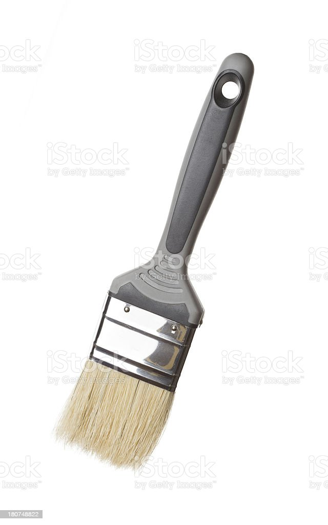 Paint brush on white royalty-free stock photo