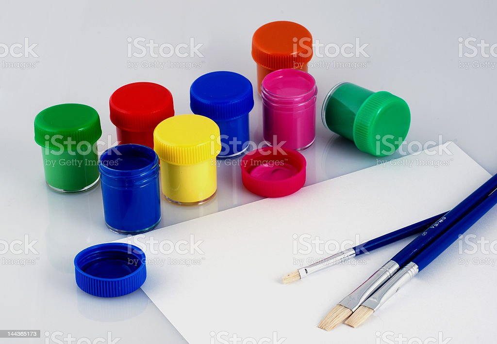 paint & brush stock photo