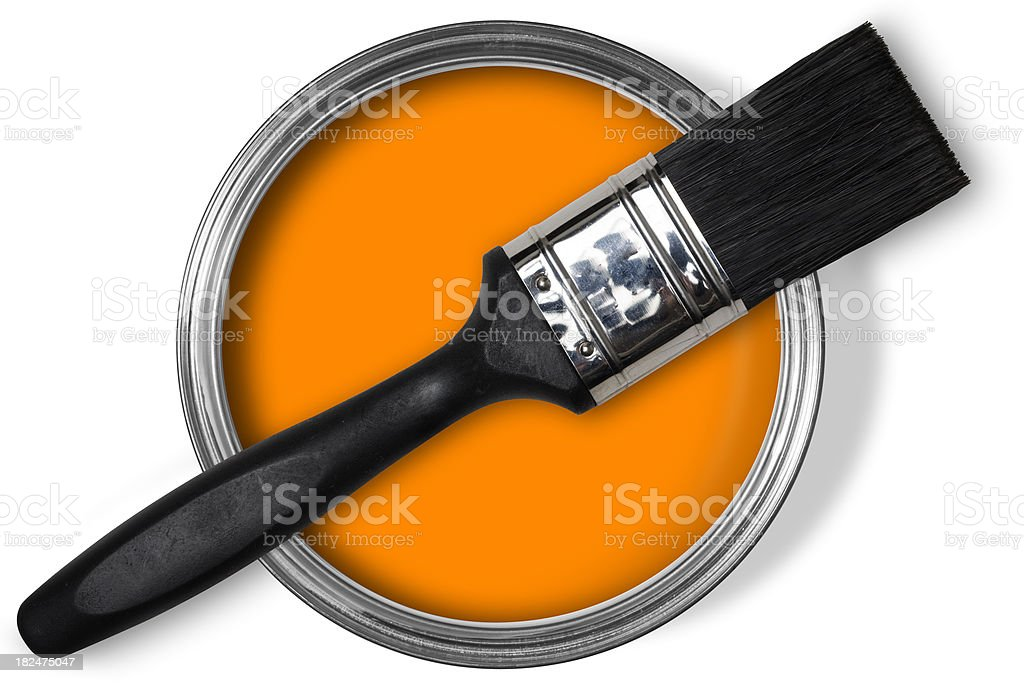 Bright Orange Paint orange paint pictures, images and stock photos - istock