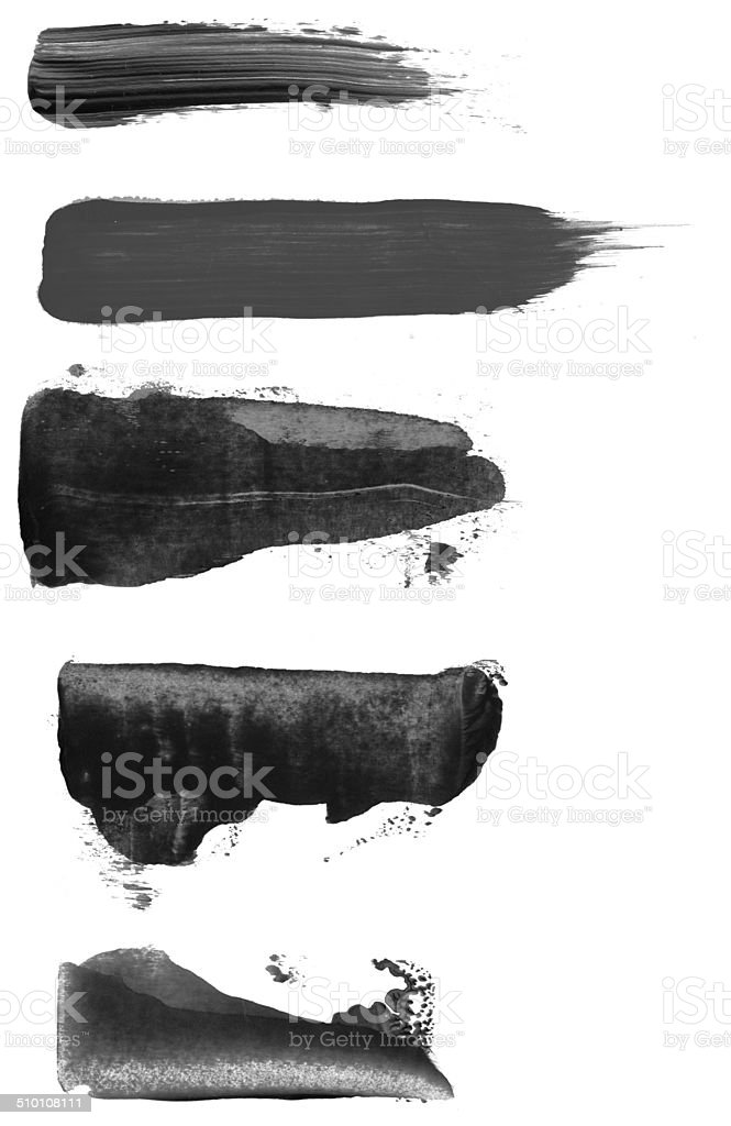 Paint Brush Strokes stock photo