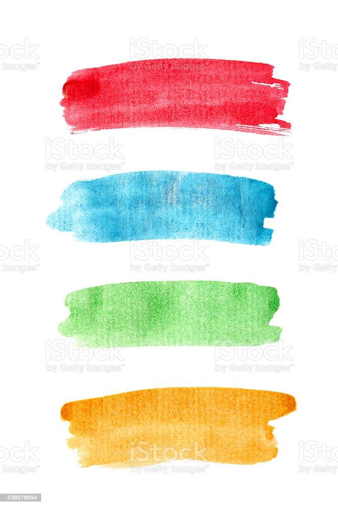 Paint brush strokes. stock photo