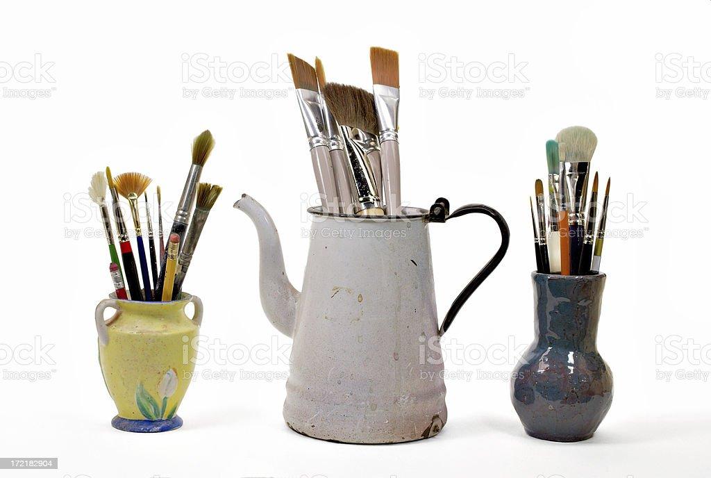 paint brushes stock photo